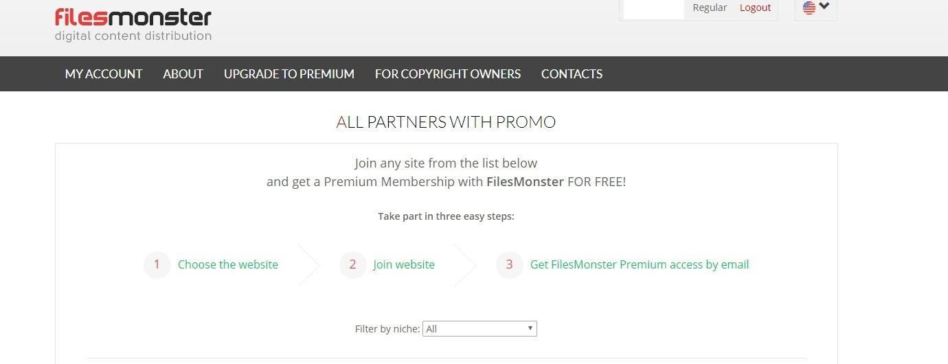 Filesmonster promo action