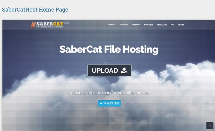 Home Page of SaberCatHost
