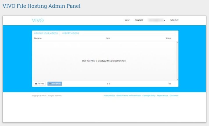 Vivo Files Hosting Admin Panel