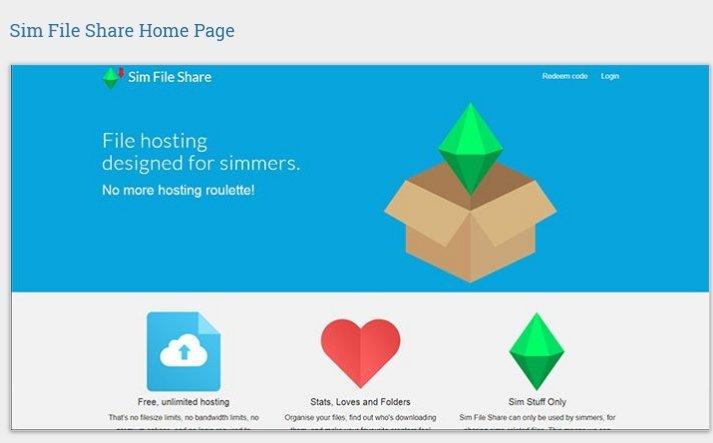 simfileshare.net Home Page Pic