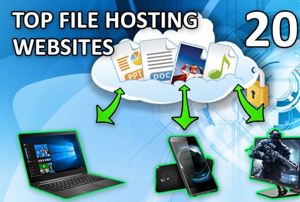 Top of file hosting services - October 2019